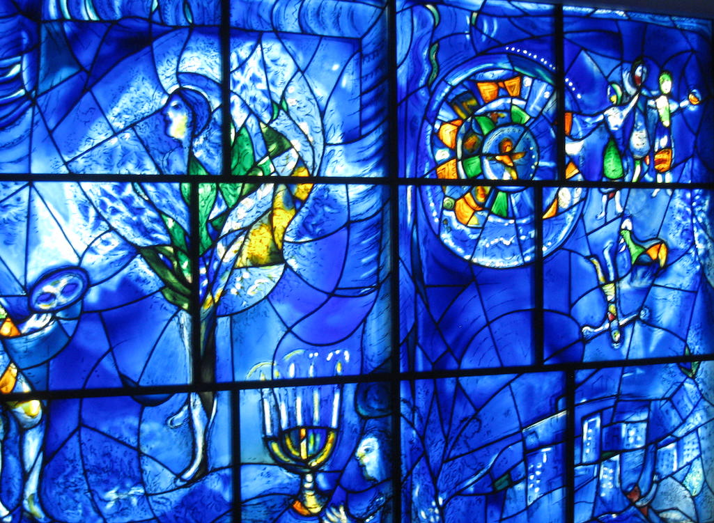 Chagall Windows at the Art Institute in Chicago