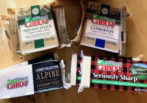 Cabot Cheese gift ideas for travelers