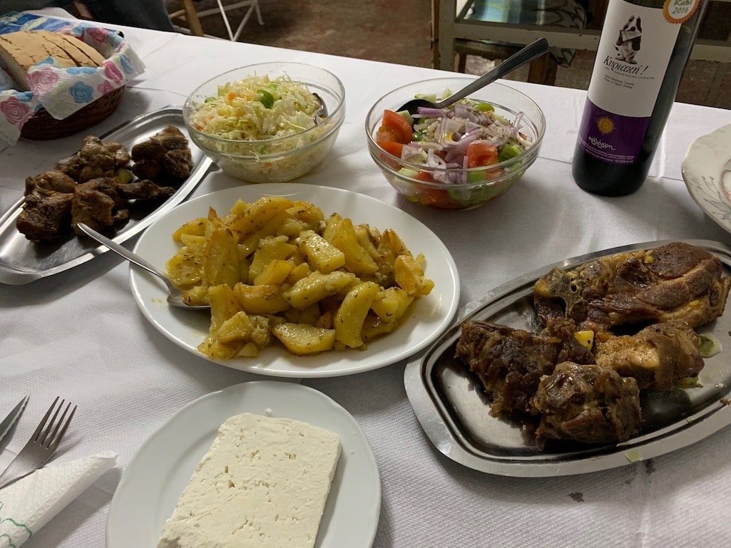 Dinner Mrs. Toula's in Piana Greece