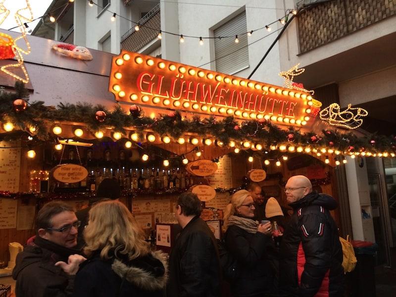 Frankfort Christmas Market Gluhweinhutte