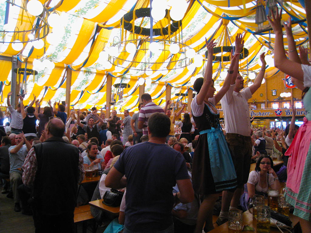 Oktoberfest Celebrations Include Dancing in Munich
