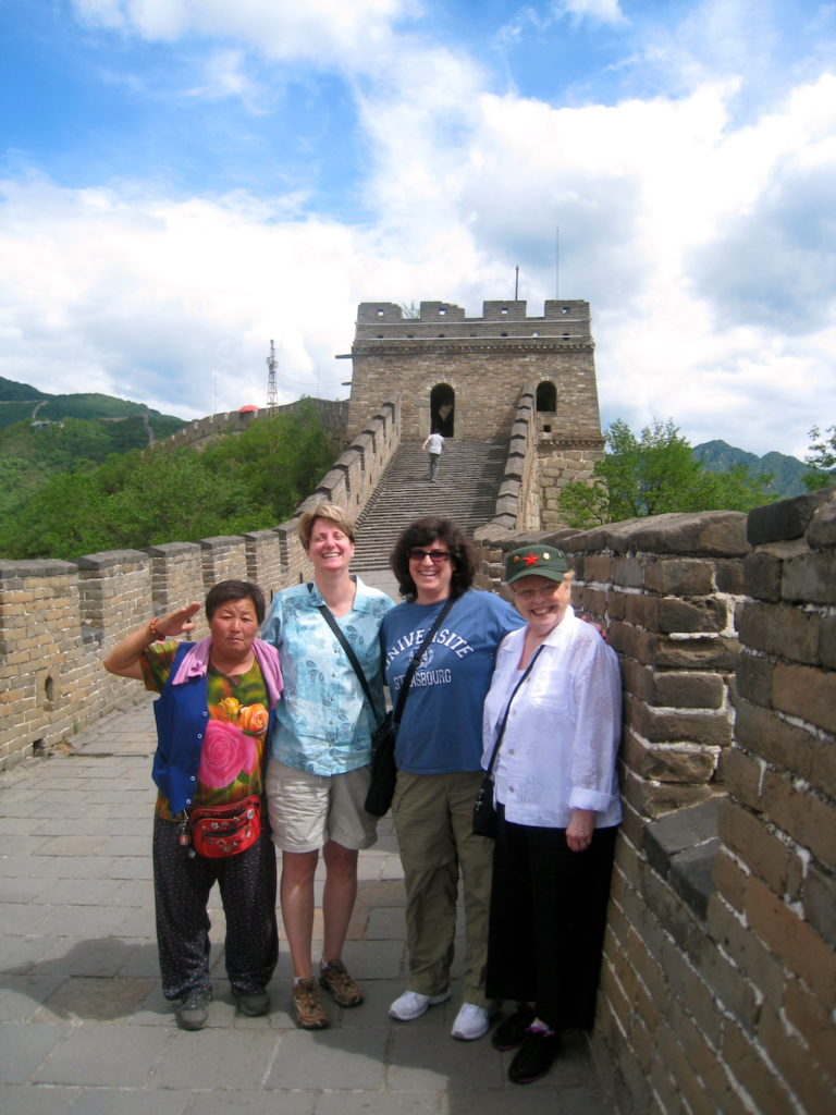 Family Photo at the Wall of China With Mom's New Friend