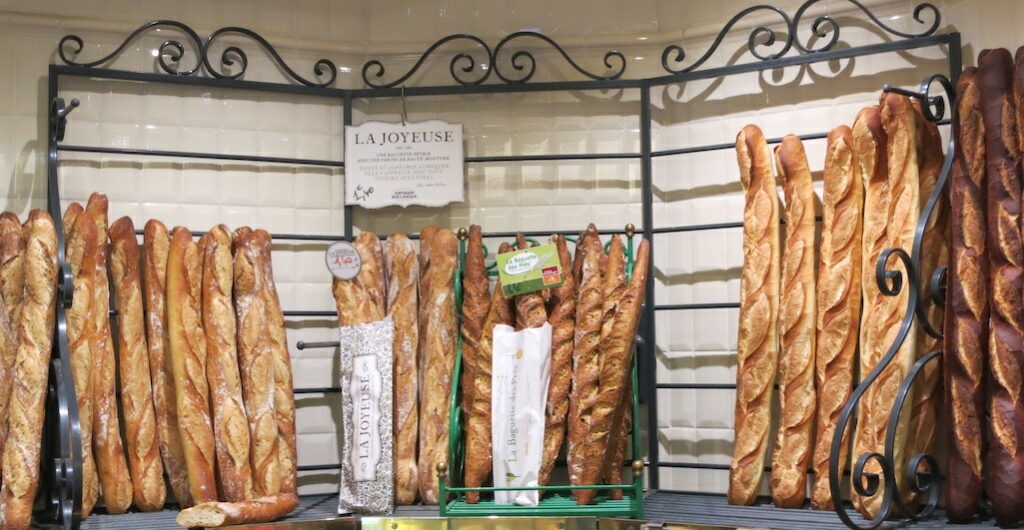 Baguette display Paris Best Bakeries