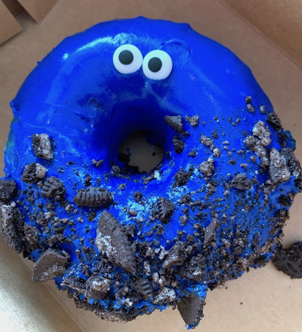 Elmo Donut at Hurts Donuts Madison WI