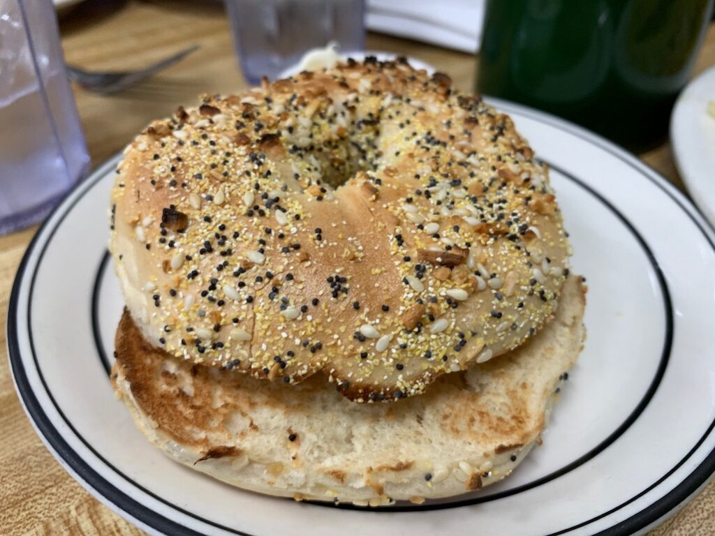 The everything bagel from Bea's Bakery Tarzana CA