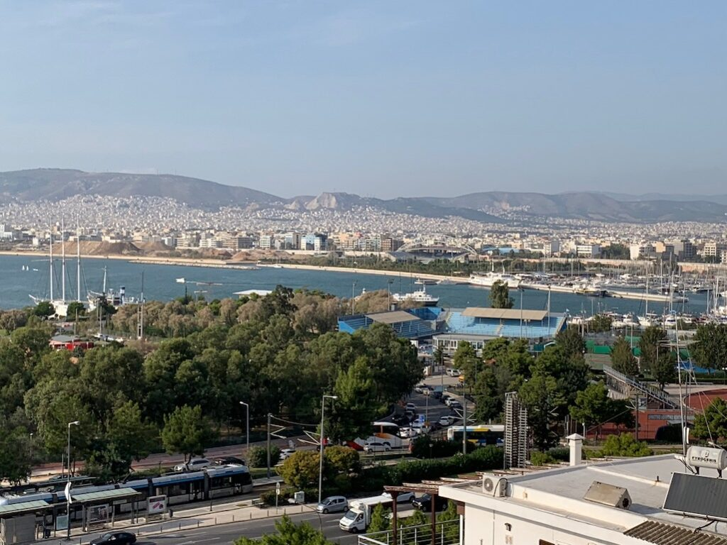 Greek view of the bay in Athens