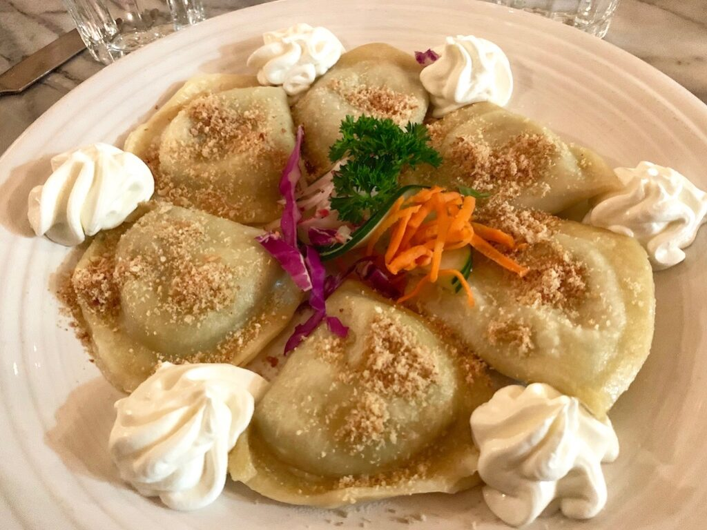 Pierogis at Amadeus Ann Arbor