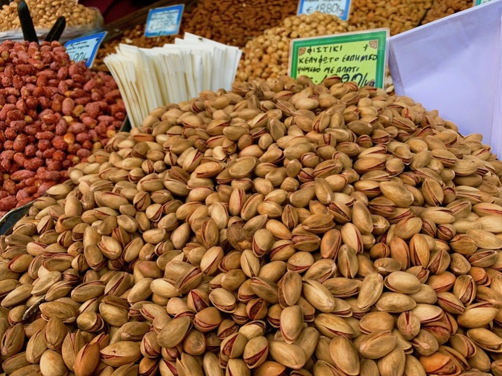 Pink Pistachios in Athens Greece