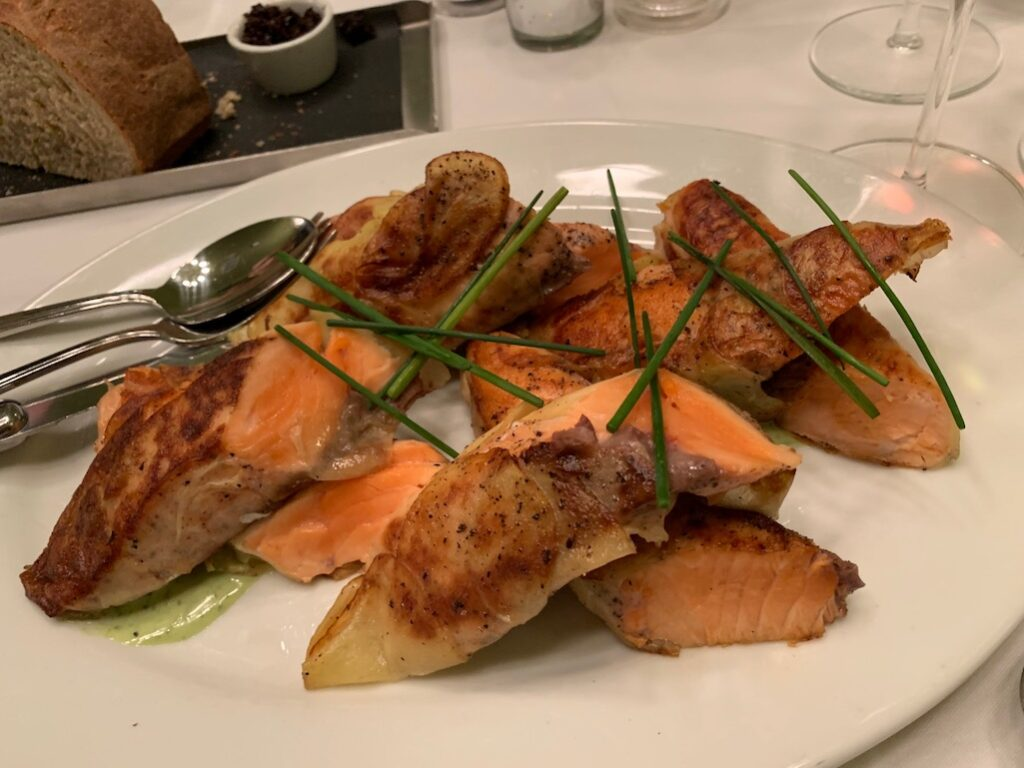 Salmon in potatoe at The Standard Ann Arbor Michigan