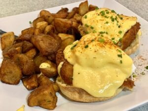 Pearl's Crabcake Benedict Philadelphia Food