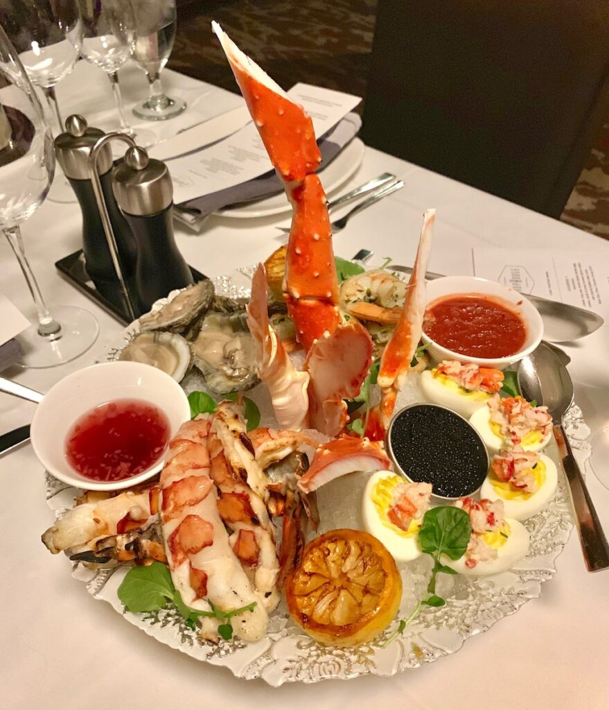 Seafood platter at Grand Geneva Food Travelist