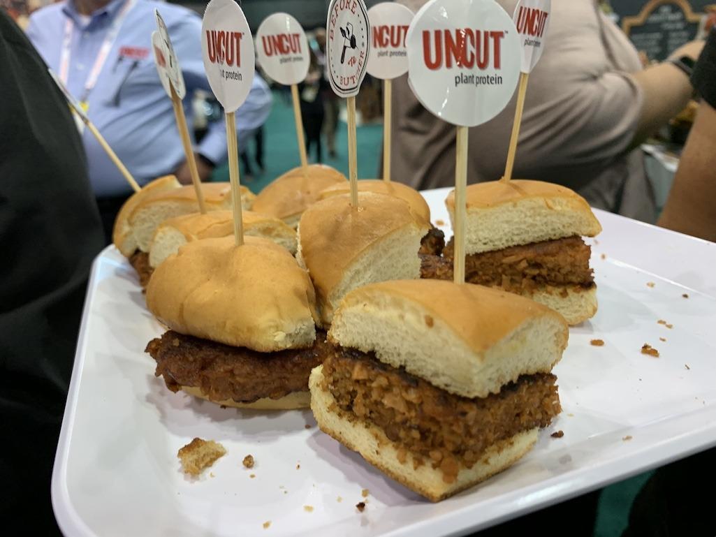 """Uncut Plant Protein """"Chicken"""" Sandwich"""