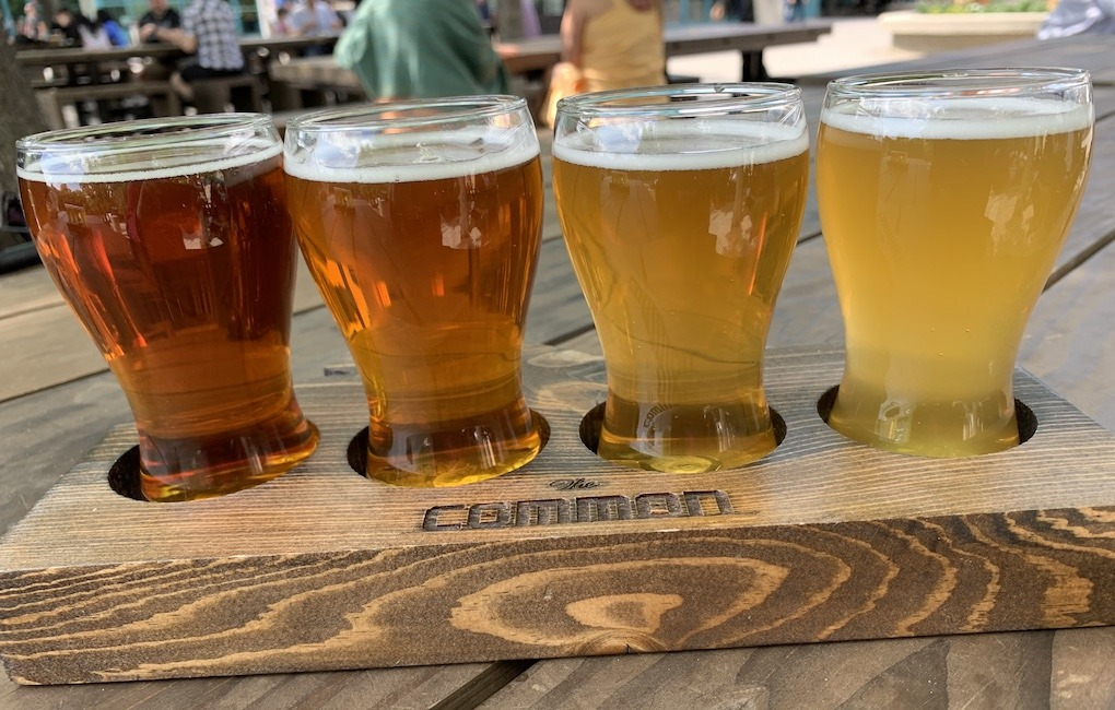 Beer Flight from The Common in The Fork Winnipeg