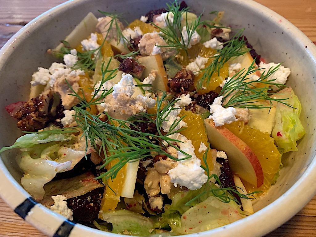 Beets & Orange salad deer + almond Winnipeg