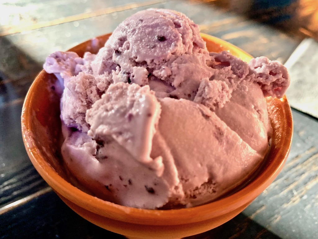 Huckleberry Ice Cream at Kiwi Boise Idaho