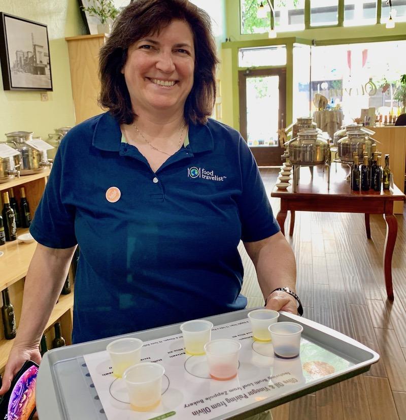 Olive oil tasting on the Indulge Boise Food Tour