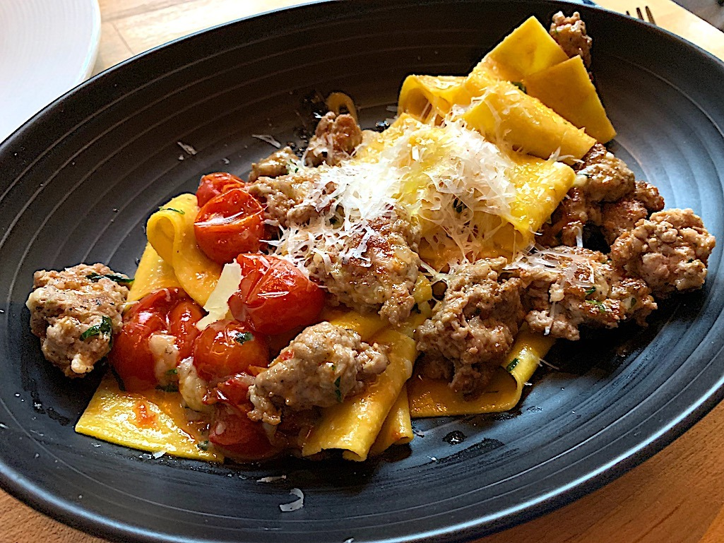 Pappardelle with Sicilian sausage Alavita Boise Idaho