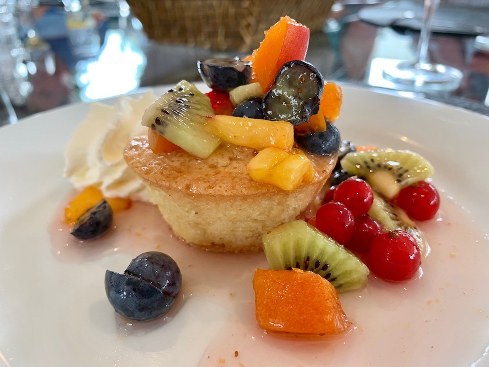 Almond Financier with Fresh fruit on Enchante European Waterways