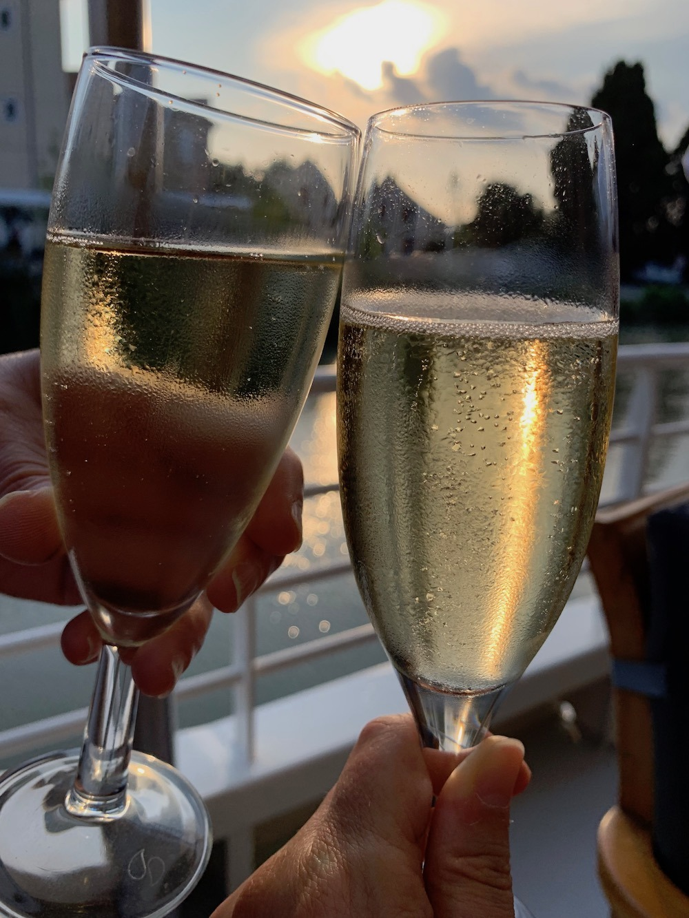 Champagne Toast on the Enchante European Waterways