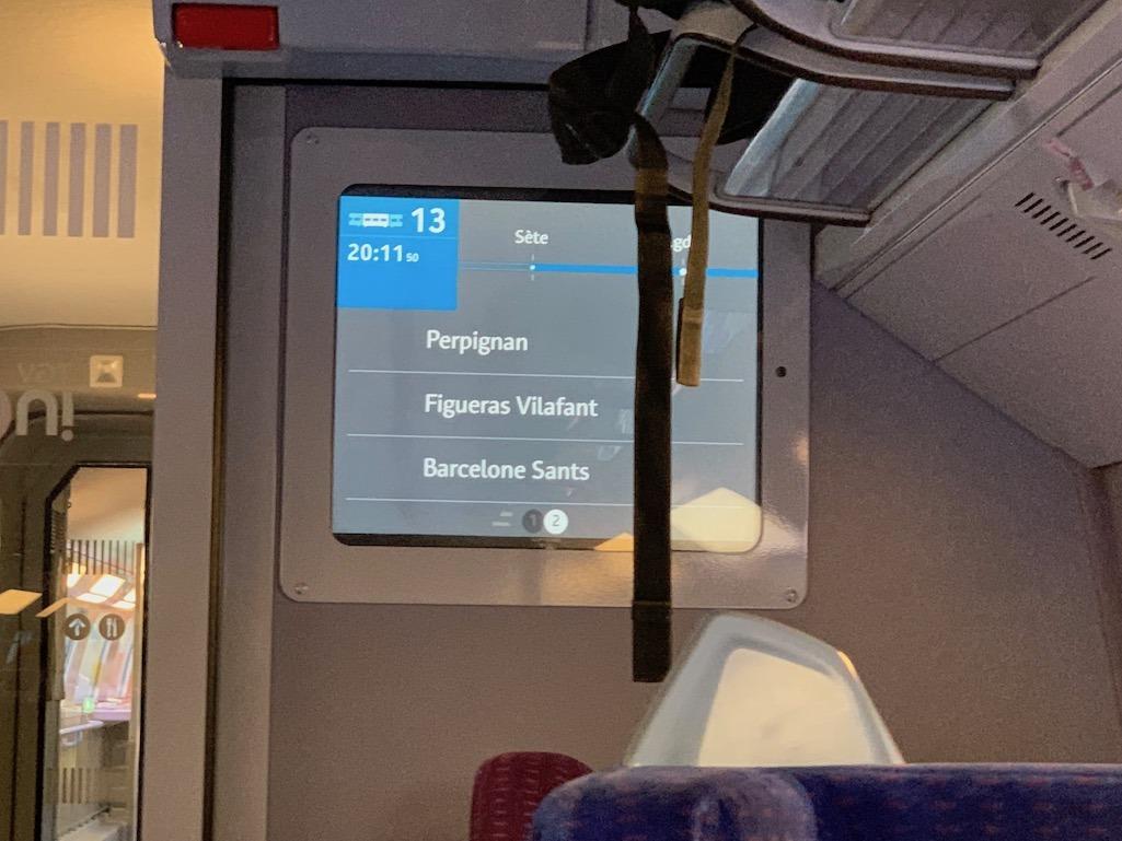 Rail Europe Information Screen