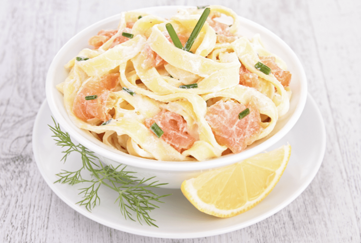 Salmon Lemon Cream Pasta