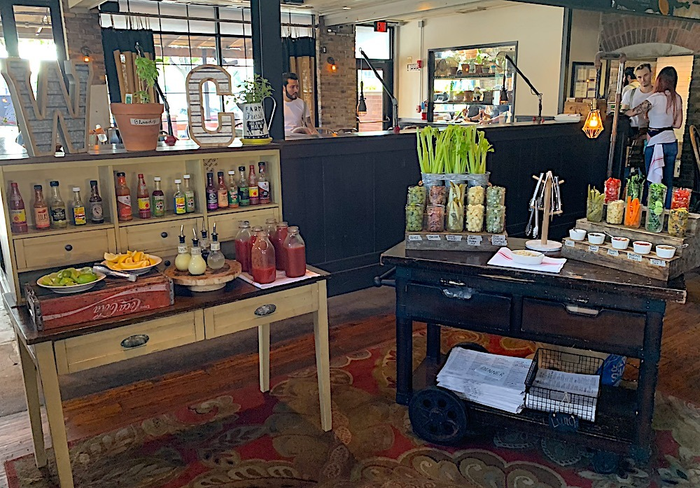 Bloody Mary Bar at Whiskey Cake Plano Texas