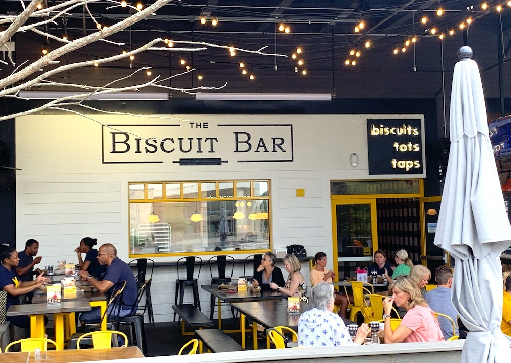 The Biscuit Bar outside dining Plano Texas