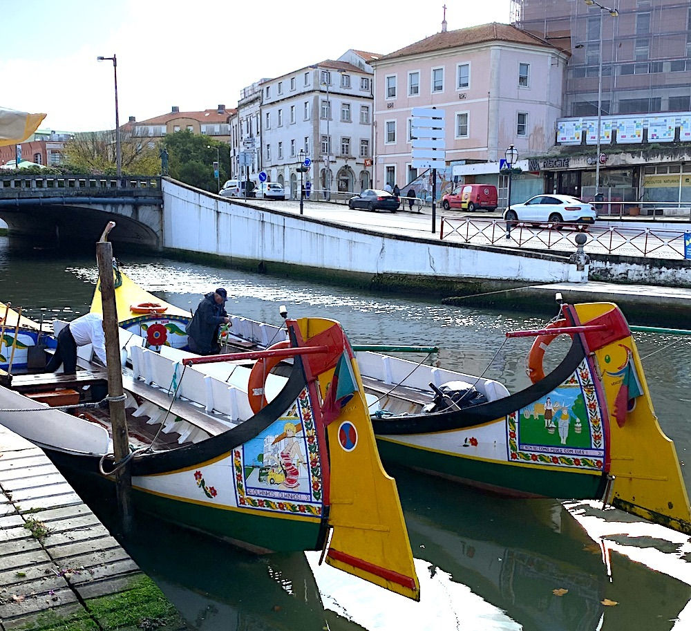 Barco Molicerios River Boats along the canal in Aveiro Portuga