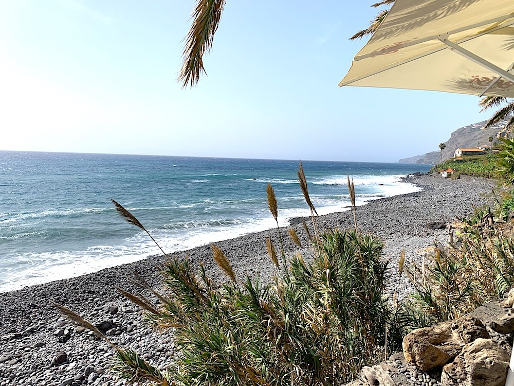 #FoodTravelChat Beachside lunch at Faja dos Padres Madeira