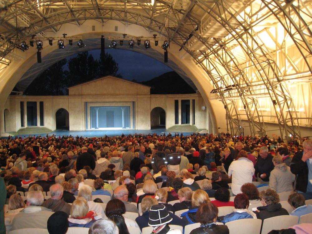 Inside the theater at Oberammergau