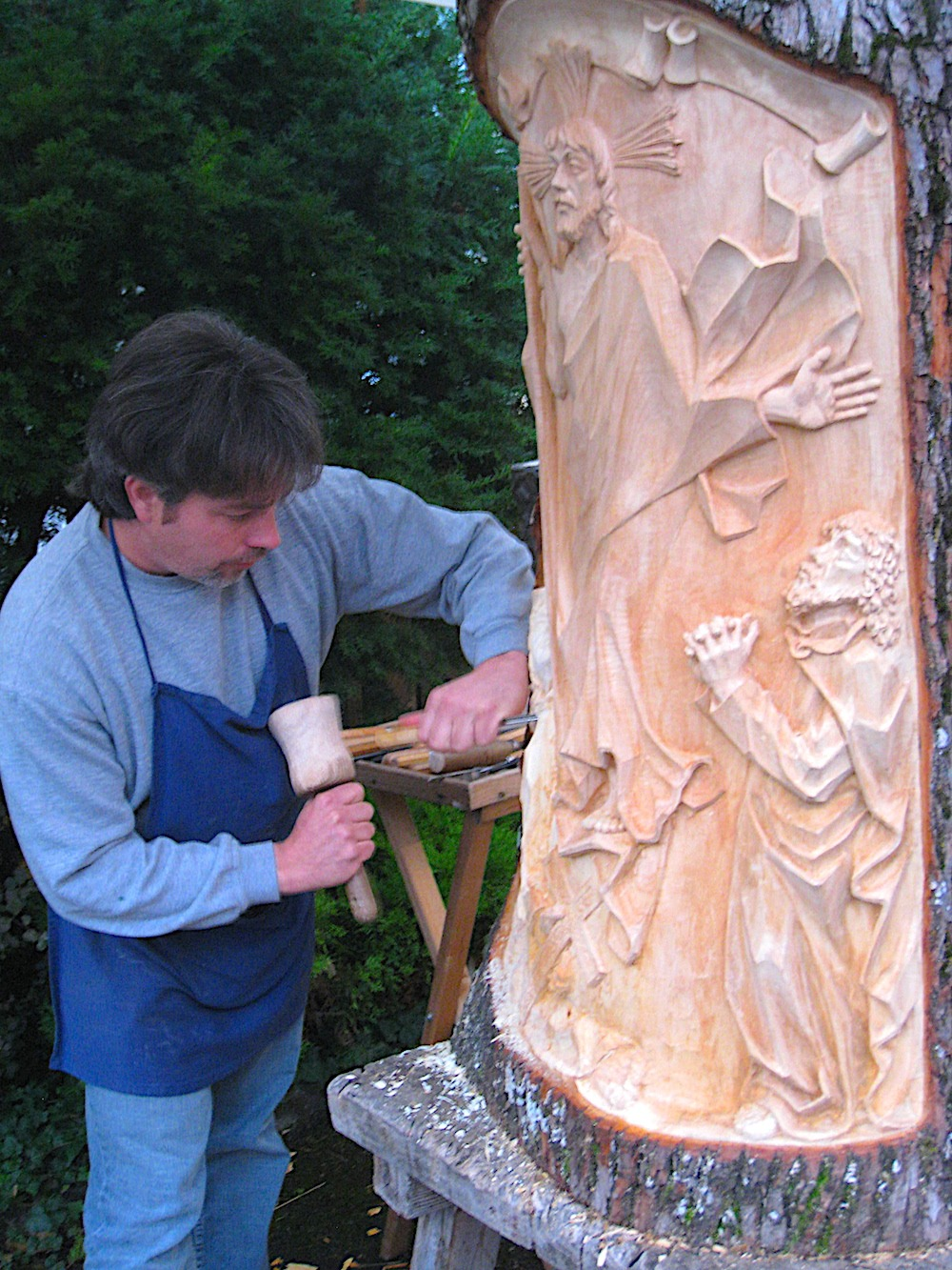 Wood carver in Oberammergau