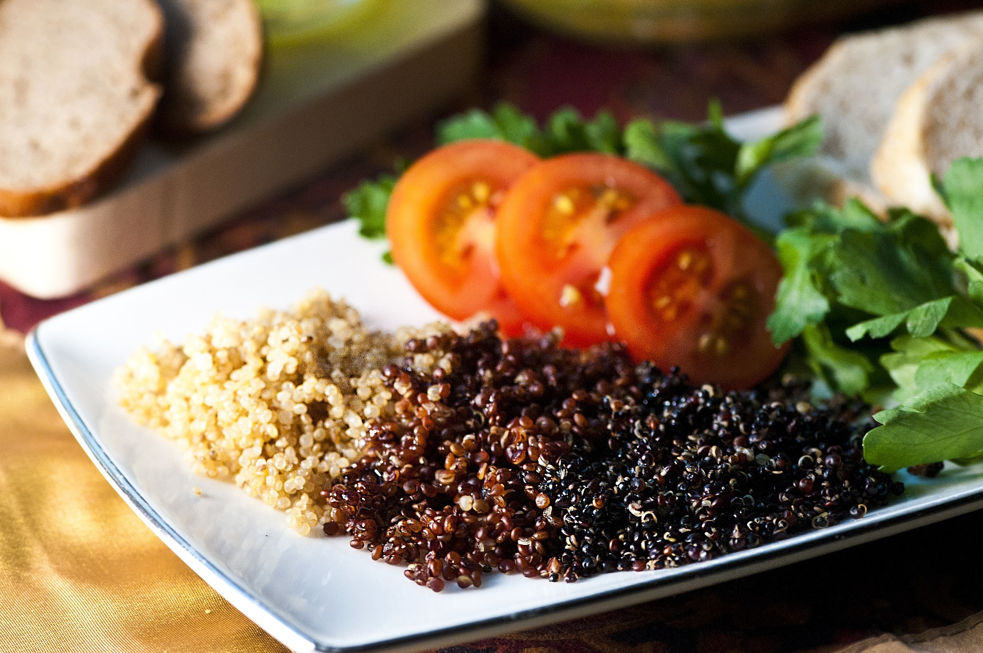 White Red And Black Quinoa
