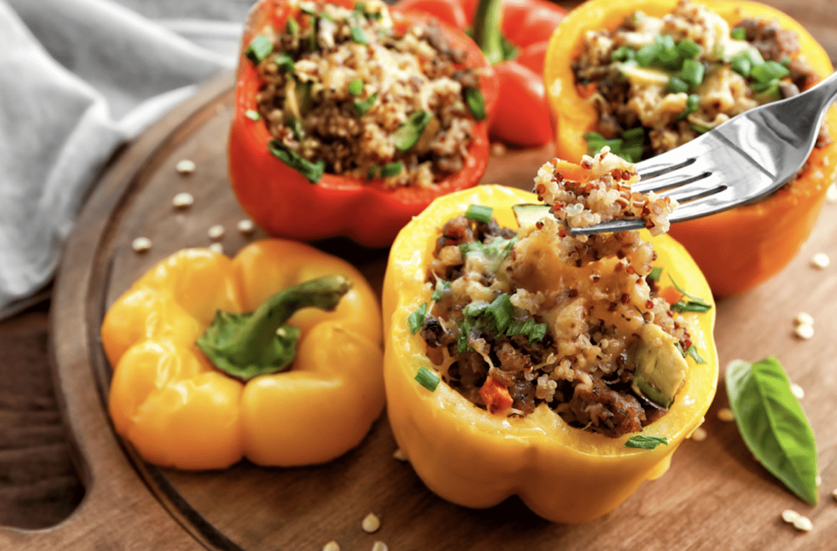 Add Quinoa For Healthy Stuffed Peppers