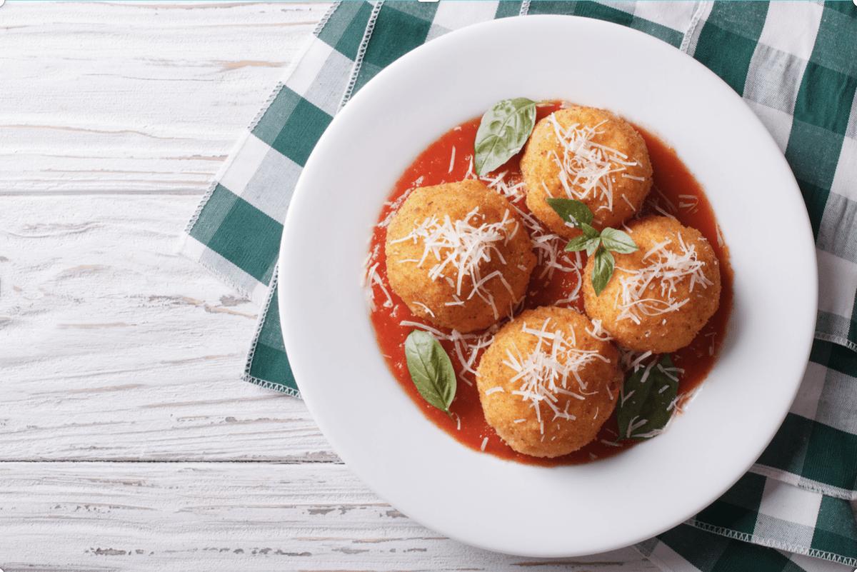 Baked Italian Rice Balls