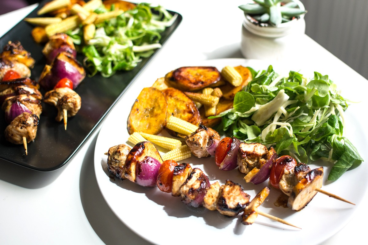 Delicious Chicken And Vegetable Kebabs