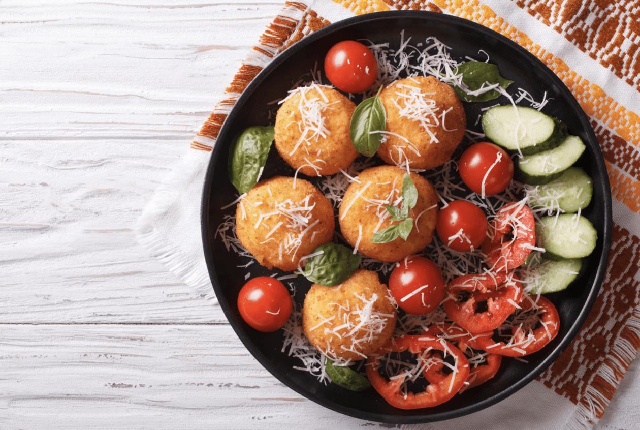 Italian Rice Balls With Veggies