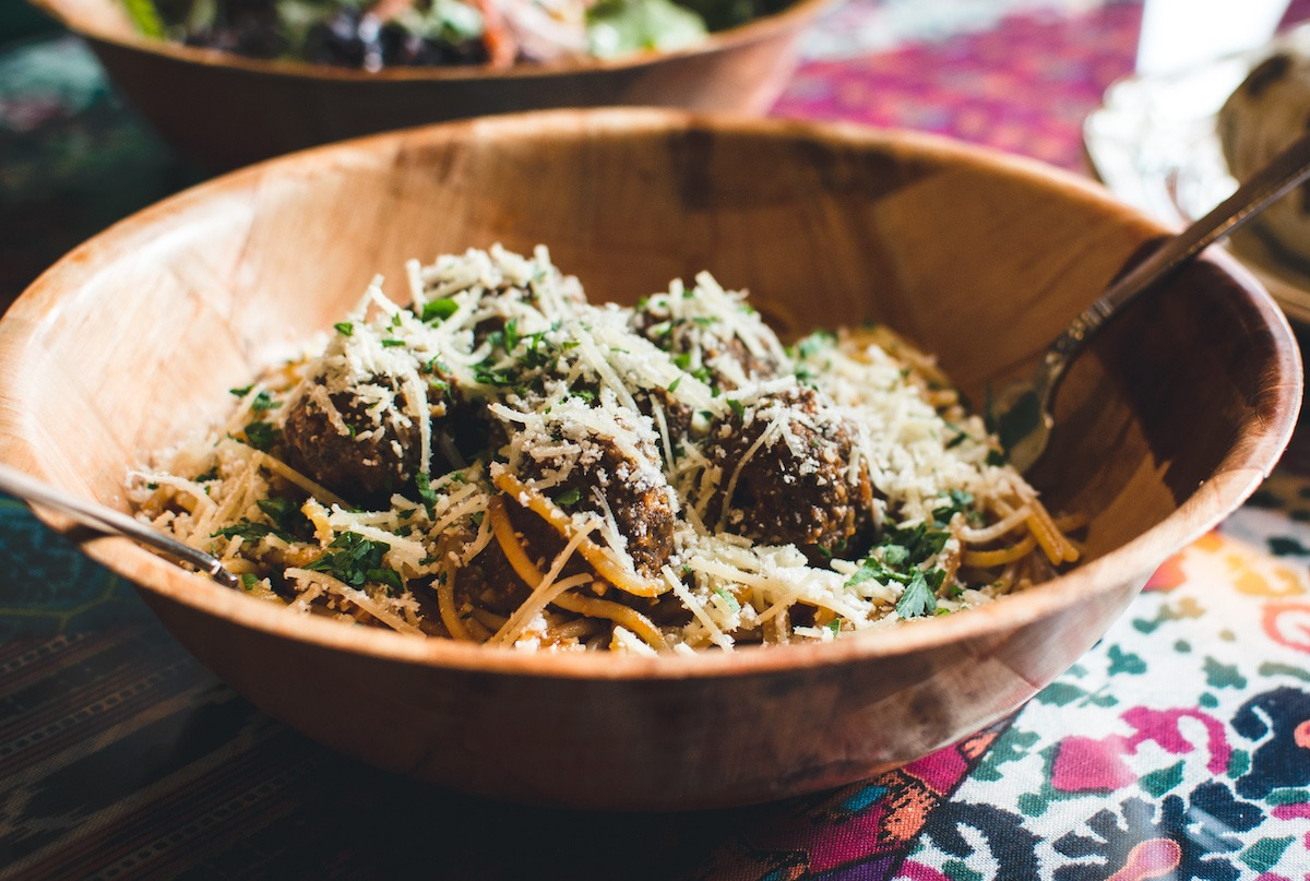 Keftedes With Pasta And Cheese