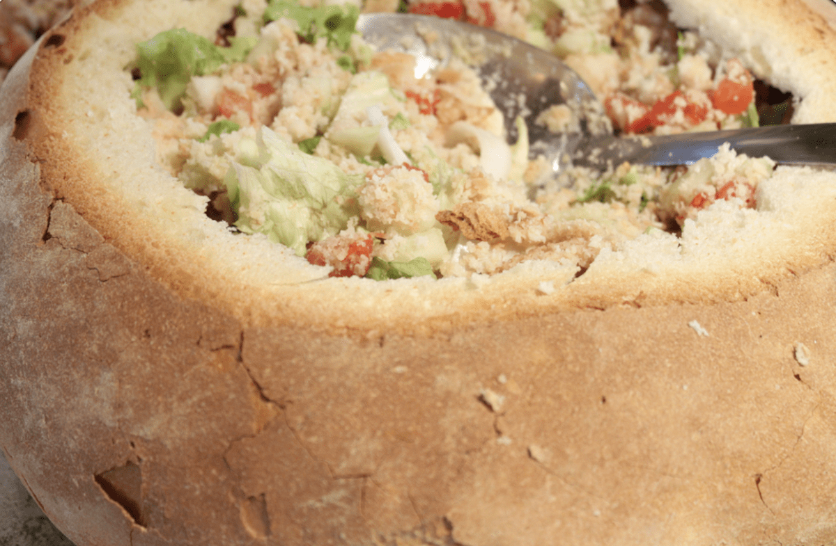 Make A Panzanella Salad Recipe Inside A Whole Loaf