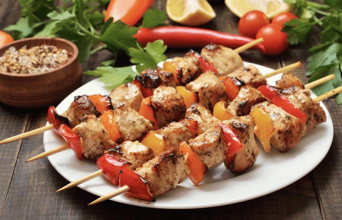 Marinade Adds Flavor To Chicken Kebabs