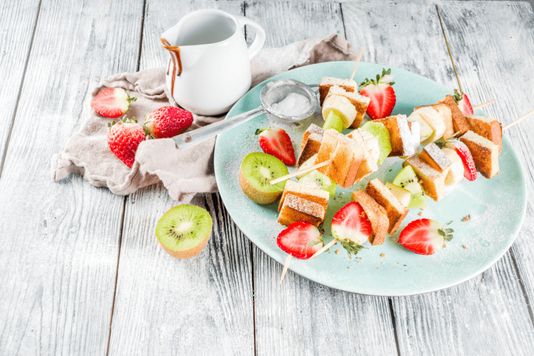Pound Cake and Fruit Skewers