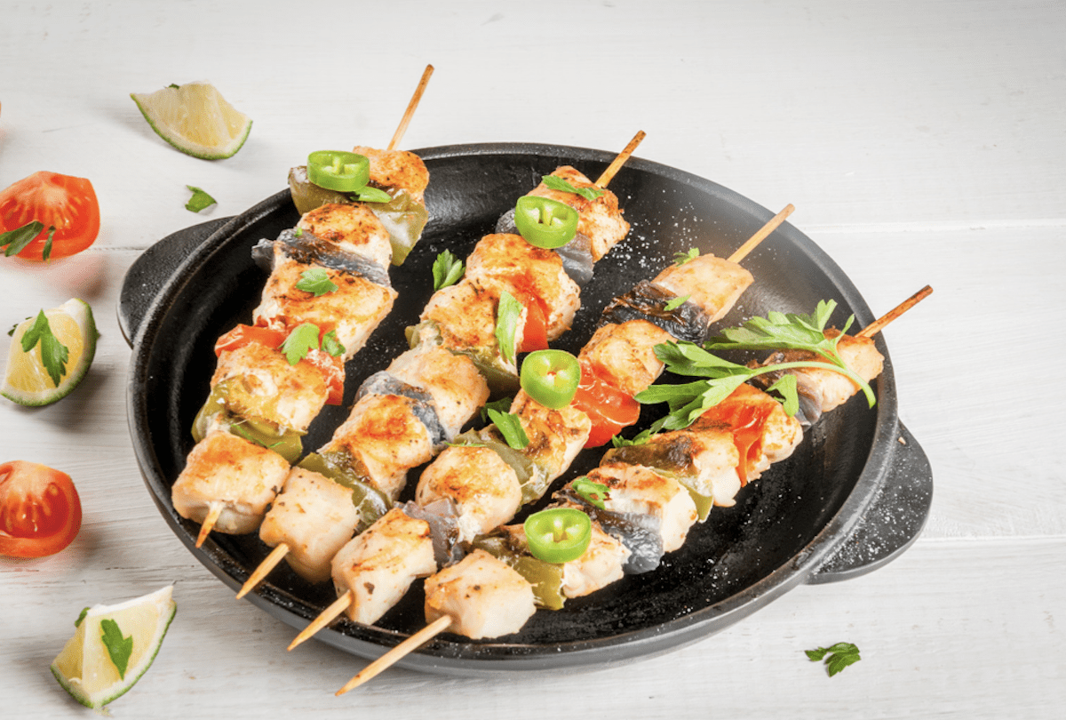 Soak Bamboo Skewers And Make Chicken Kebabs In The Oven
