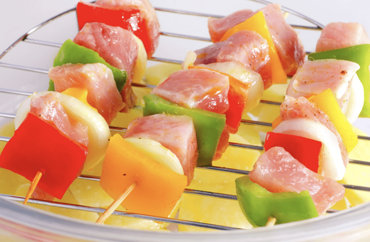 Vegetable And Chicken Kebabs