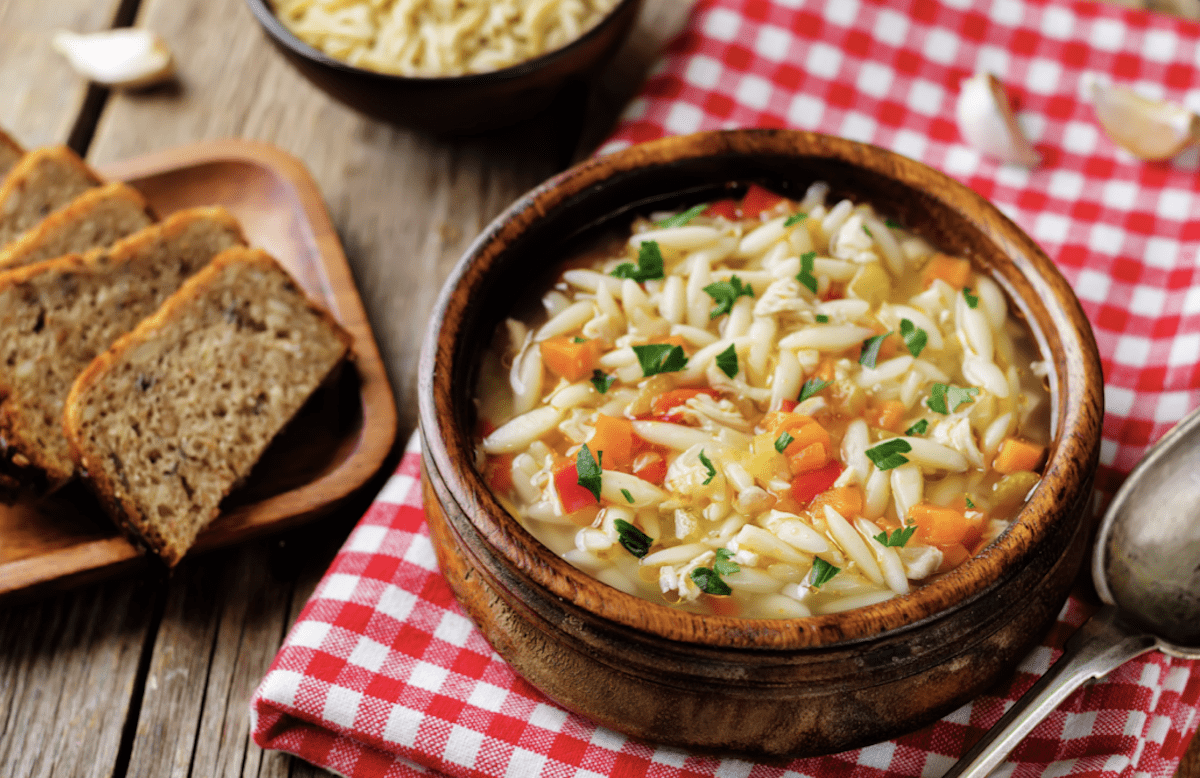 Veggie Orzo Pasta Soup Is A Real Tummy Warmer