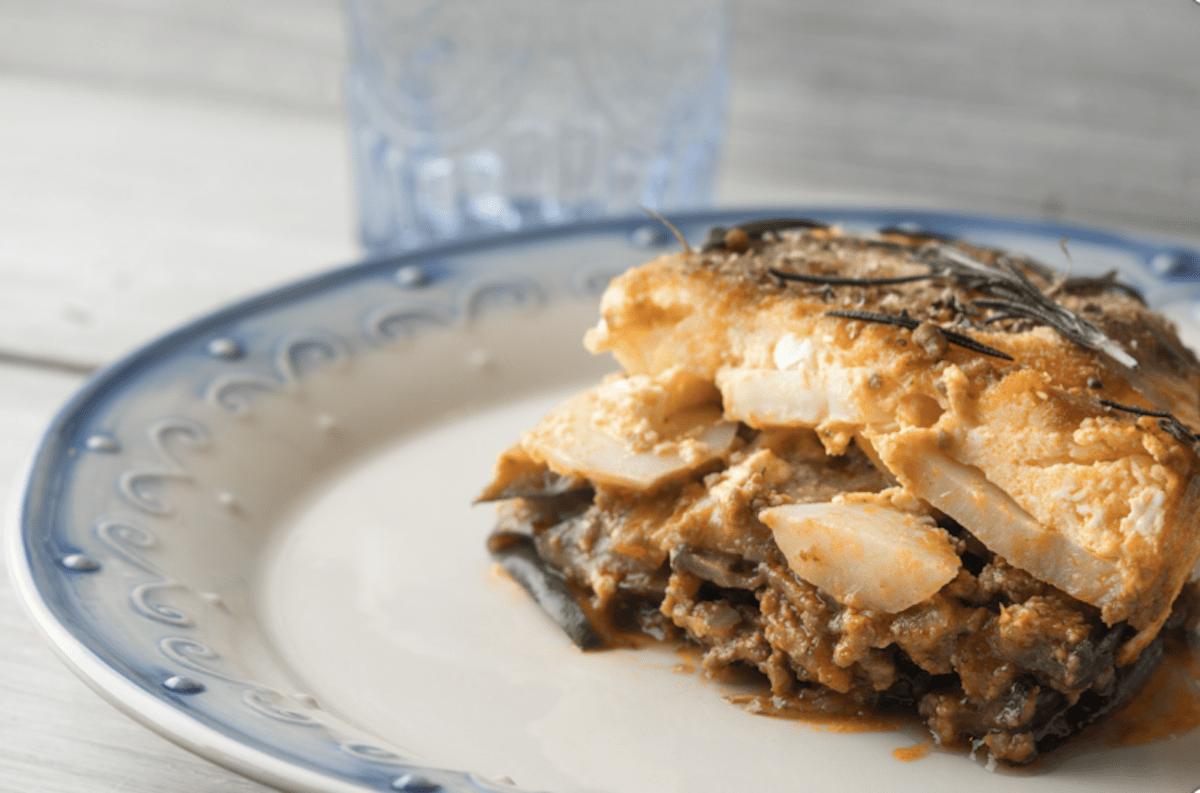 Add A Layer of Potato And Make Vegetarian Moussaka