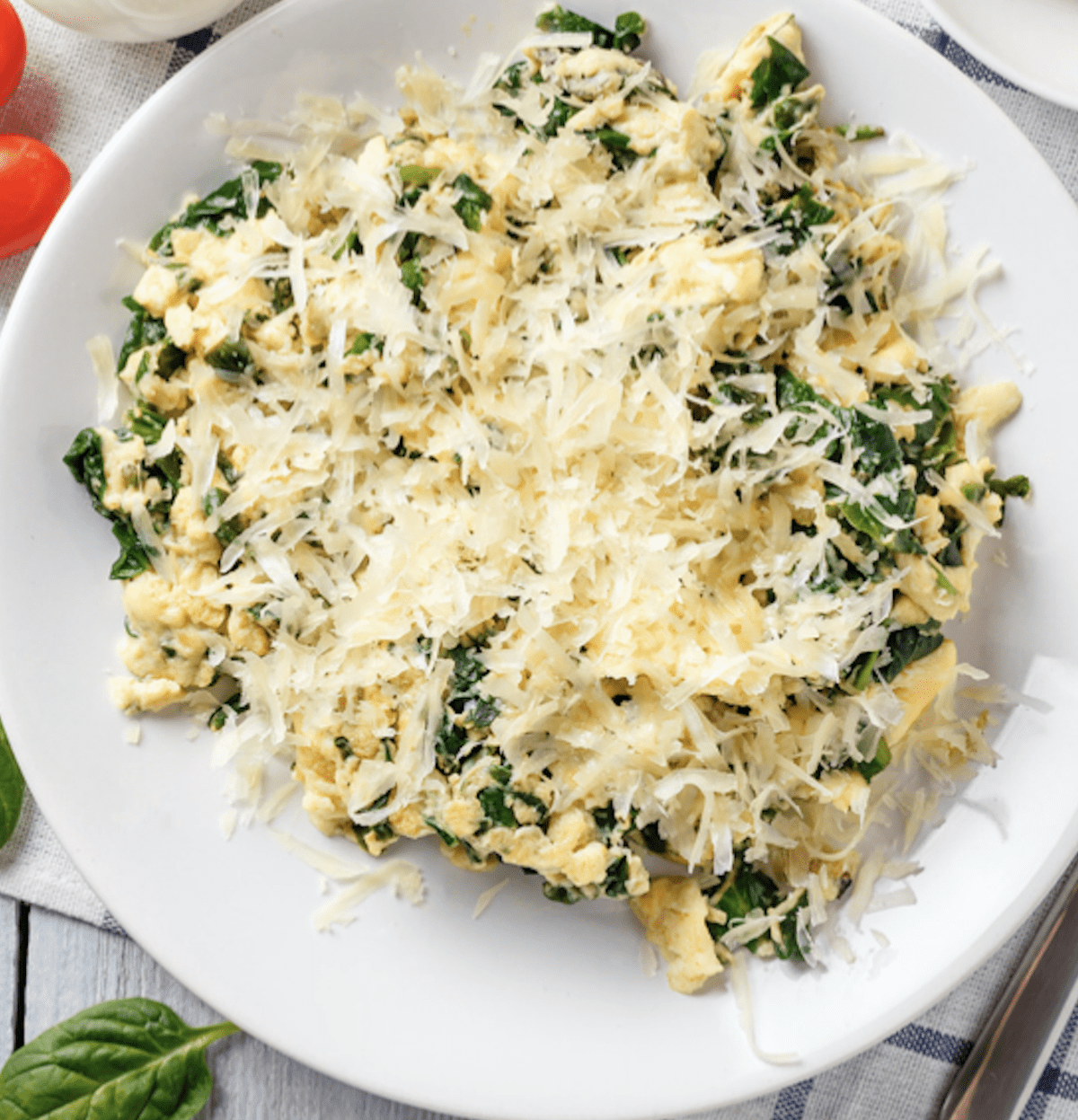 Scrambled Eggs With Cheese On Top
