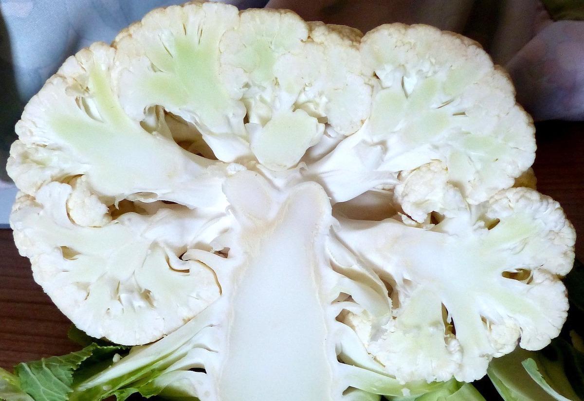 Slice Cauliflower In Half First