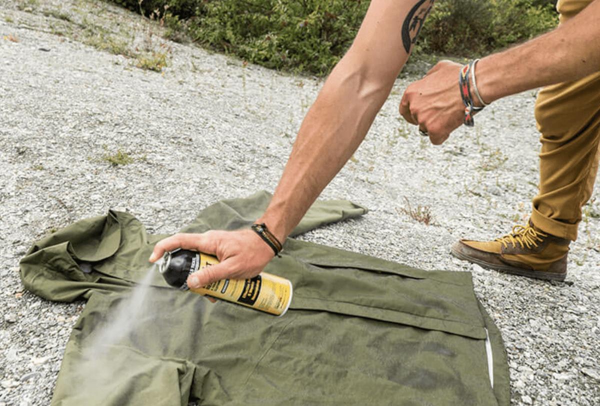 Spray Sawyer Permethrin On Clothes And Gear