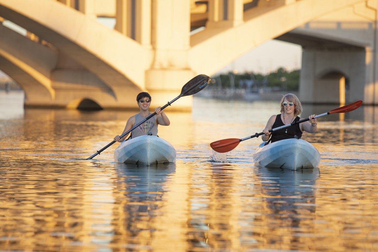 Exploring Tempe by kayak