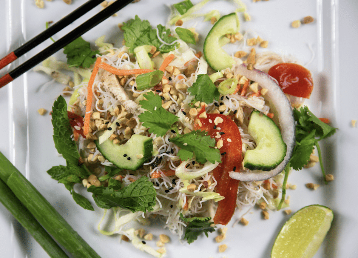 Asian Chicken Salad Makes A Beautiful Dish
