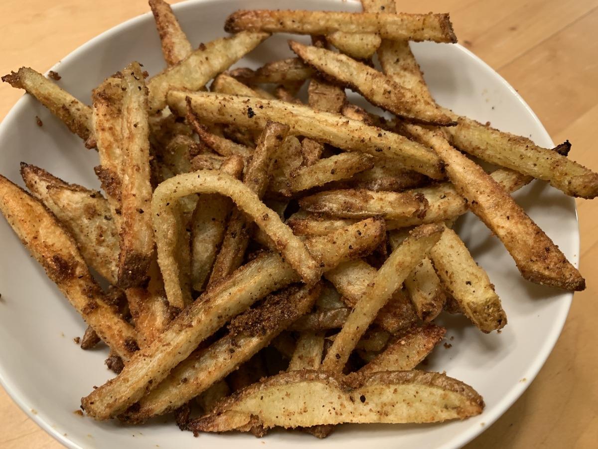 Crispy duck fat fries
